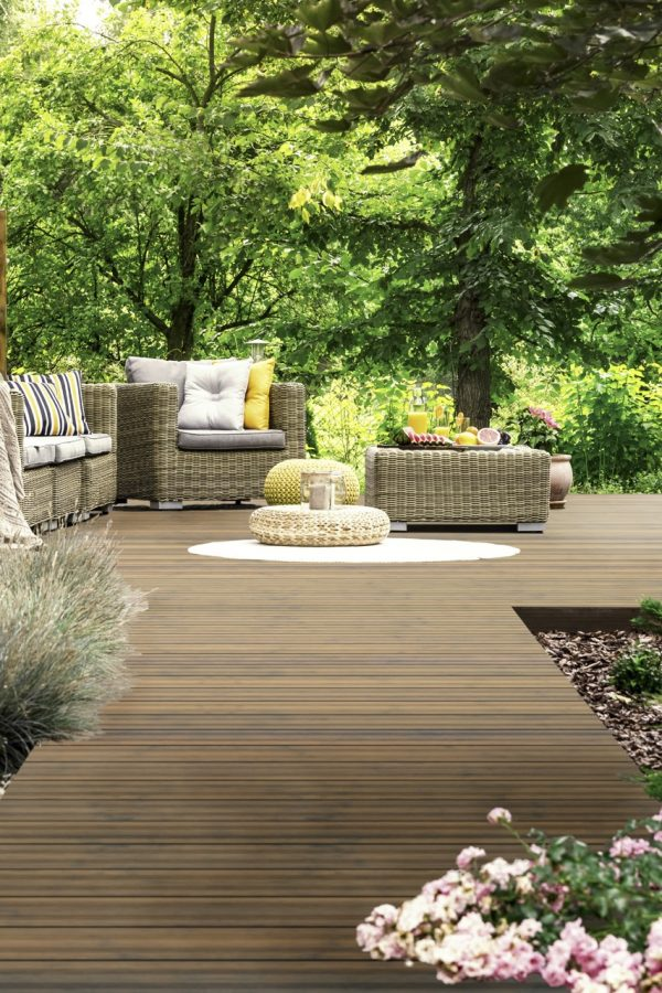 Sustainable Decking, hotel terrace