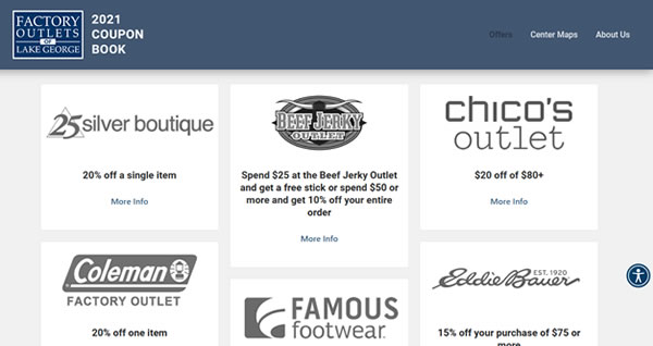 2021 Lake George Outlet Coupons