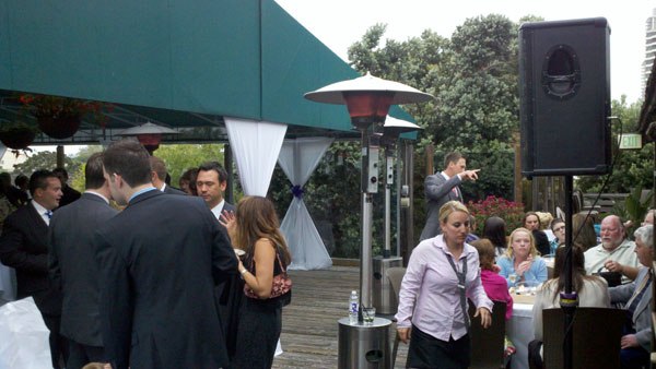 Harbor-House-San-Diego-Bay-Wedding-Reception-outside-dj-set-up