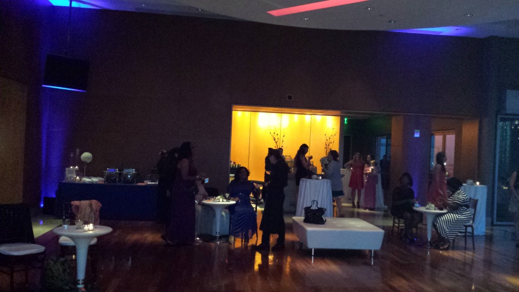 MY DJs Uplights at Ultimate Skybox Wedding Reception