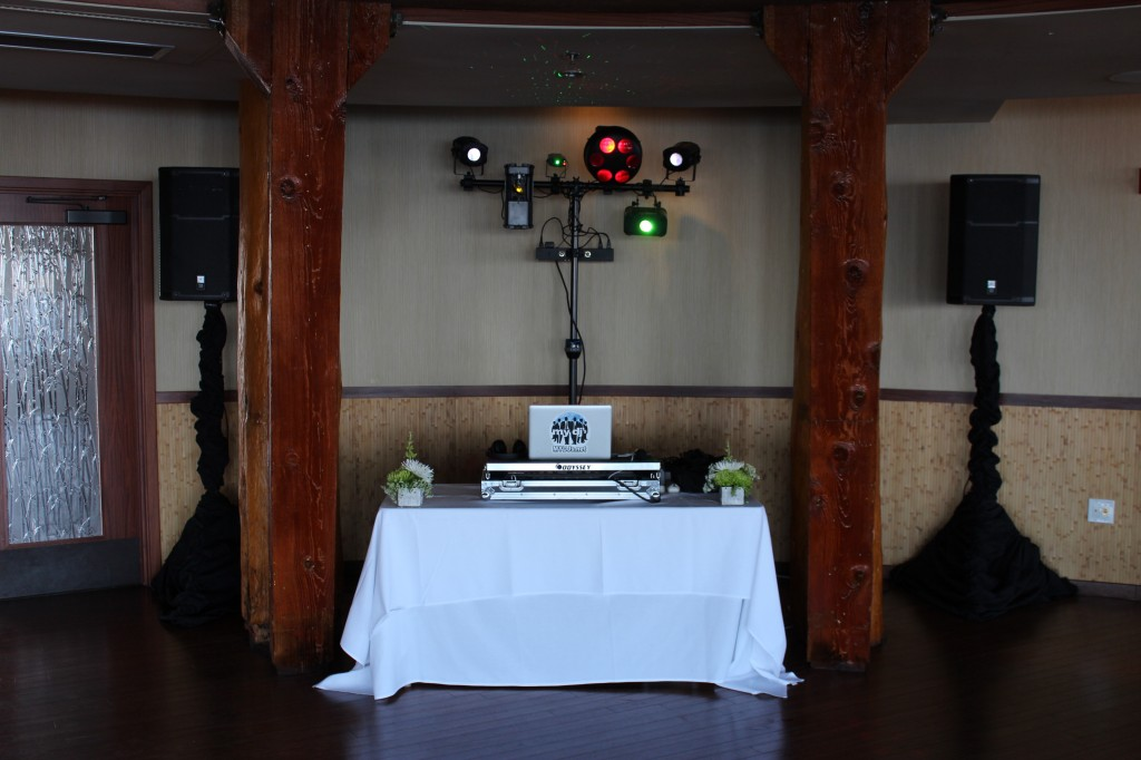 MY DJs Reception Setup with Party Lights at Bali Hai
