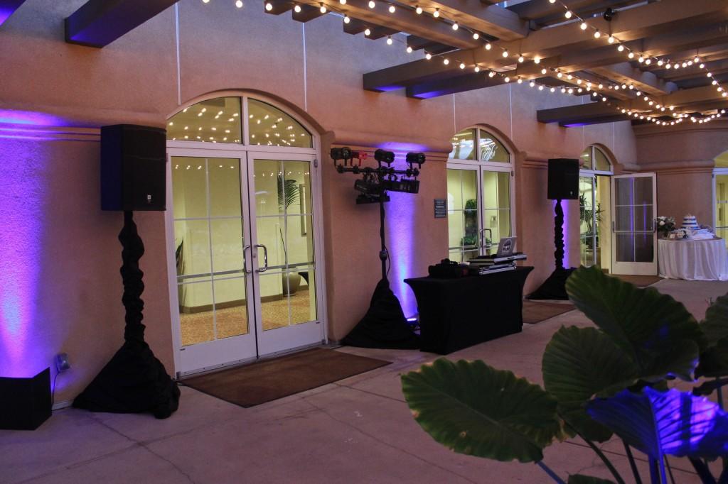 MY DJs Uplights at Hilton Garden Inn Carlsbad