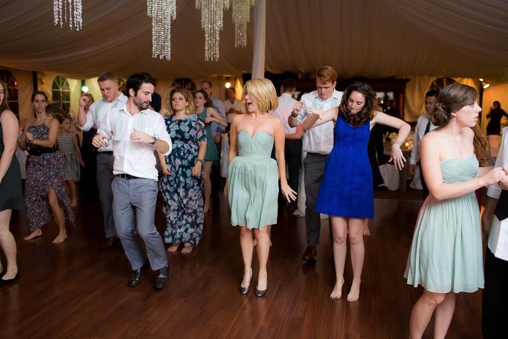 MY DJs Line Dance Instruction at Green Gables Wedding Reception