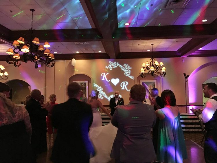 monogram, dance floor lighting