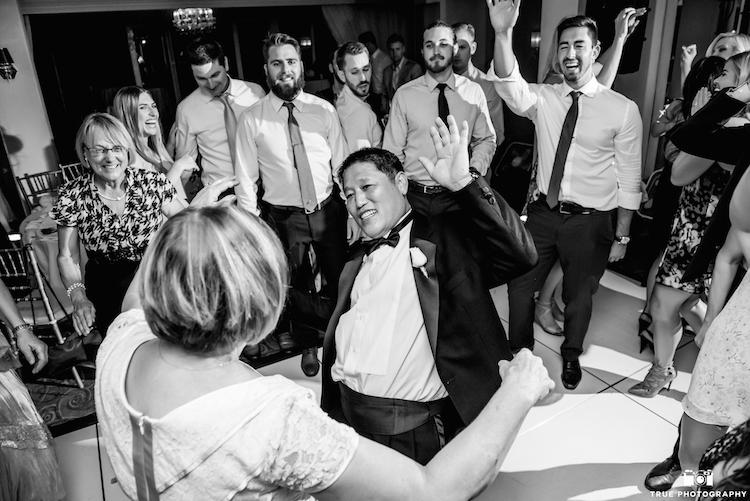 family dance wedding