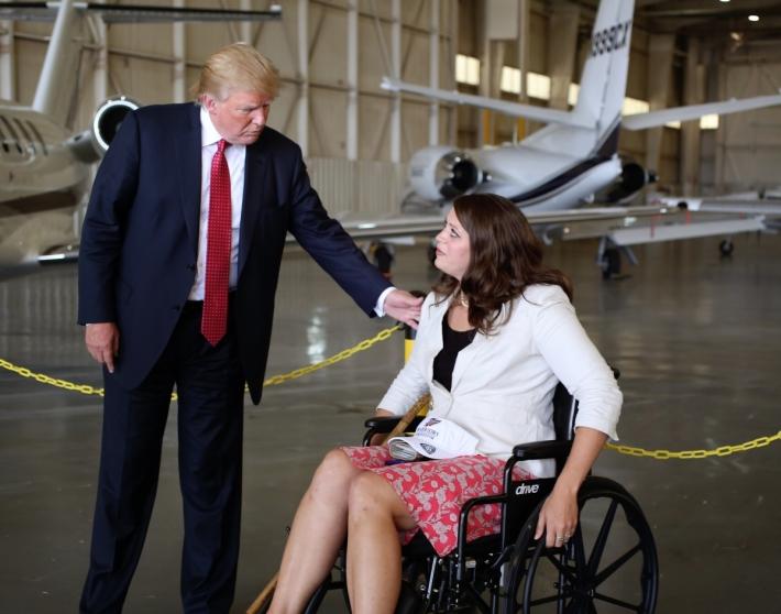 Trump Disabled Woman