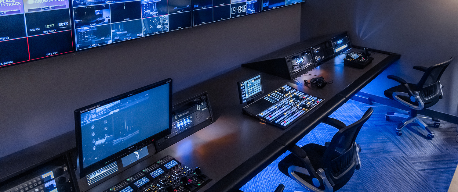 Clear ProAV Broadcast Control Room