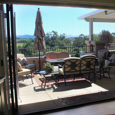 ZigZag Retractable Screens on Wide Opening Patio Entrance