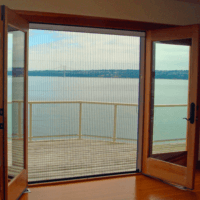 pleated retractable screens for french doors