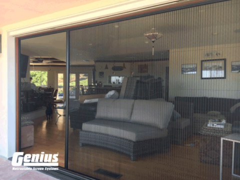 Zig Zag Screens the Perfect Solution for Large Sliding Doors!