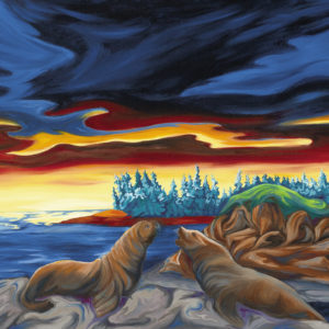 Sun Salutations Oil Painting of the west coast by Janice Gallant