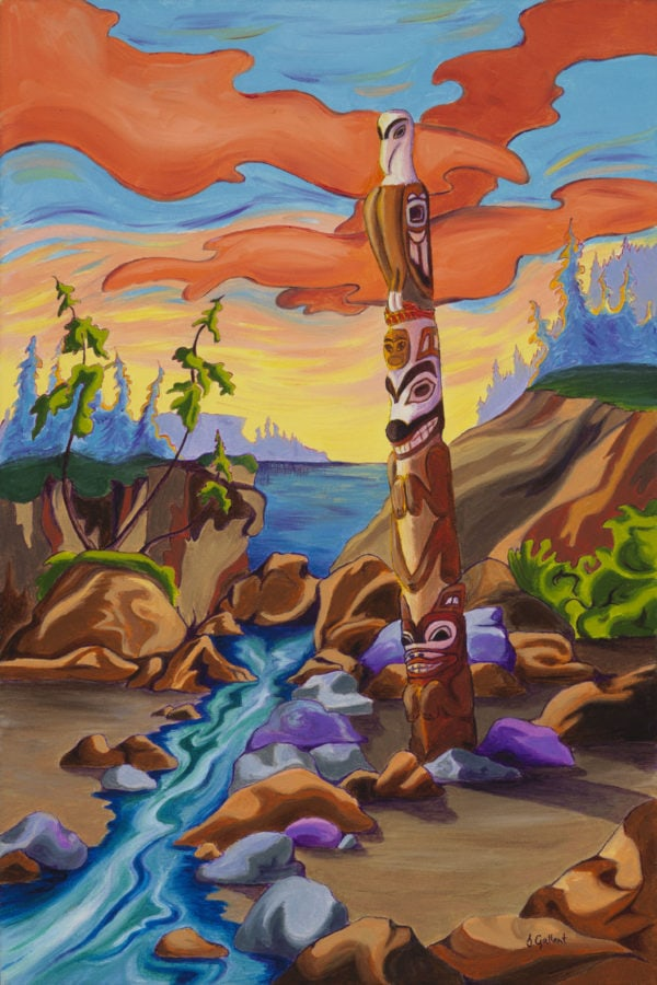 Haida Totem Canvas Print available from https://thecreationguild.com/decorator-prints/