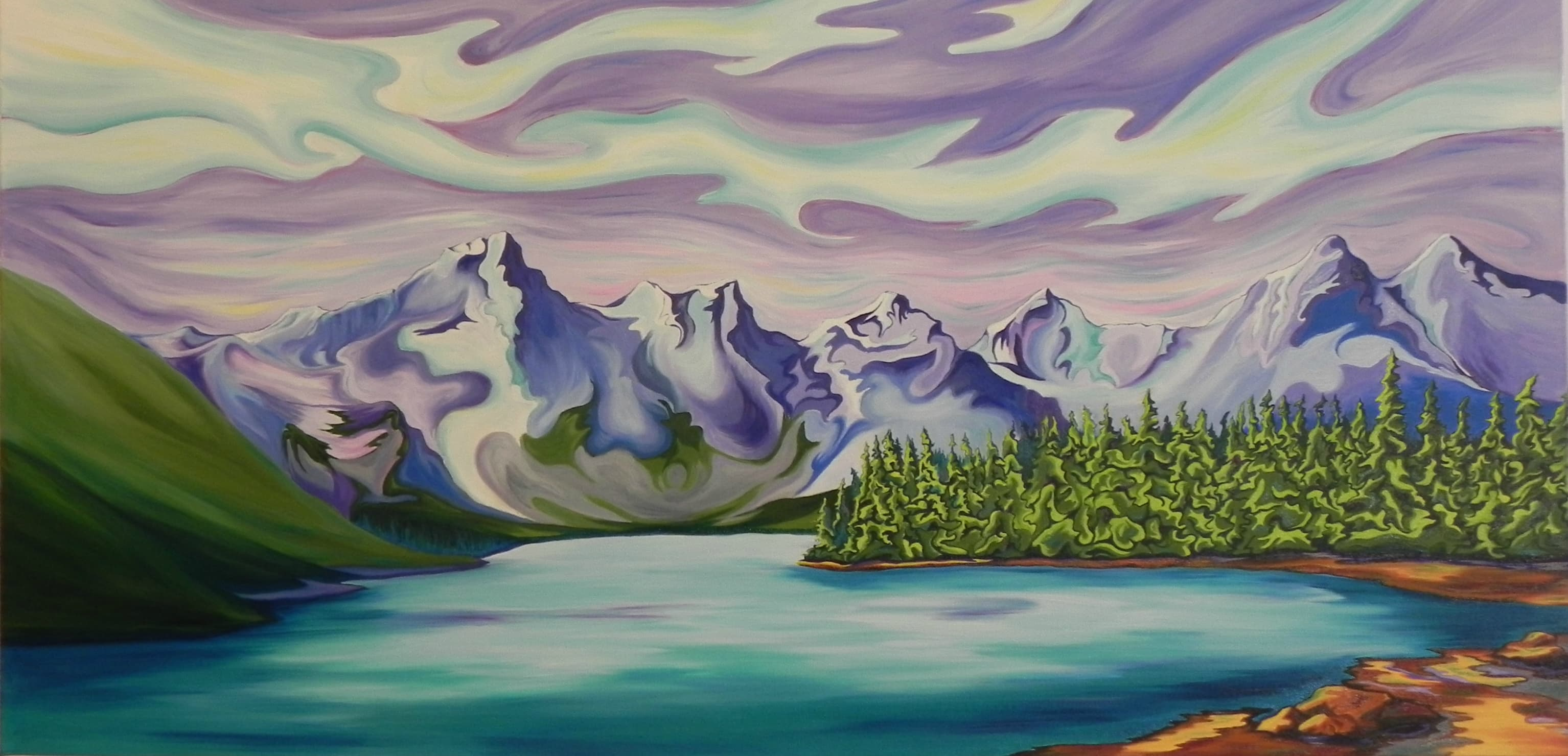 Banff oil painting by Janice Gallant thecreationguild.com