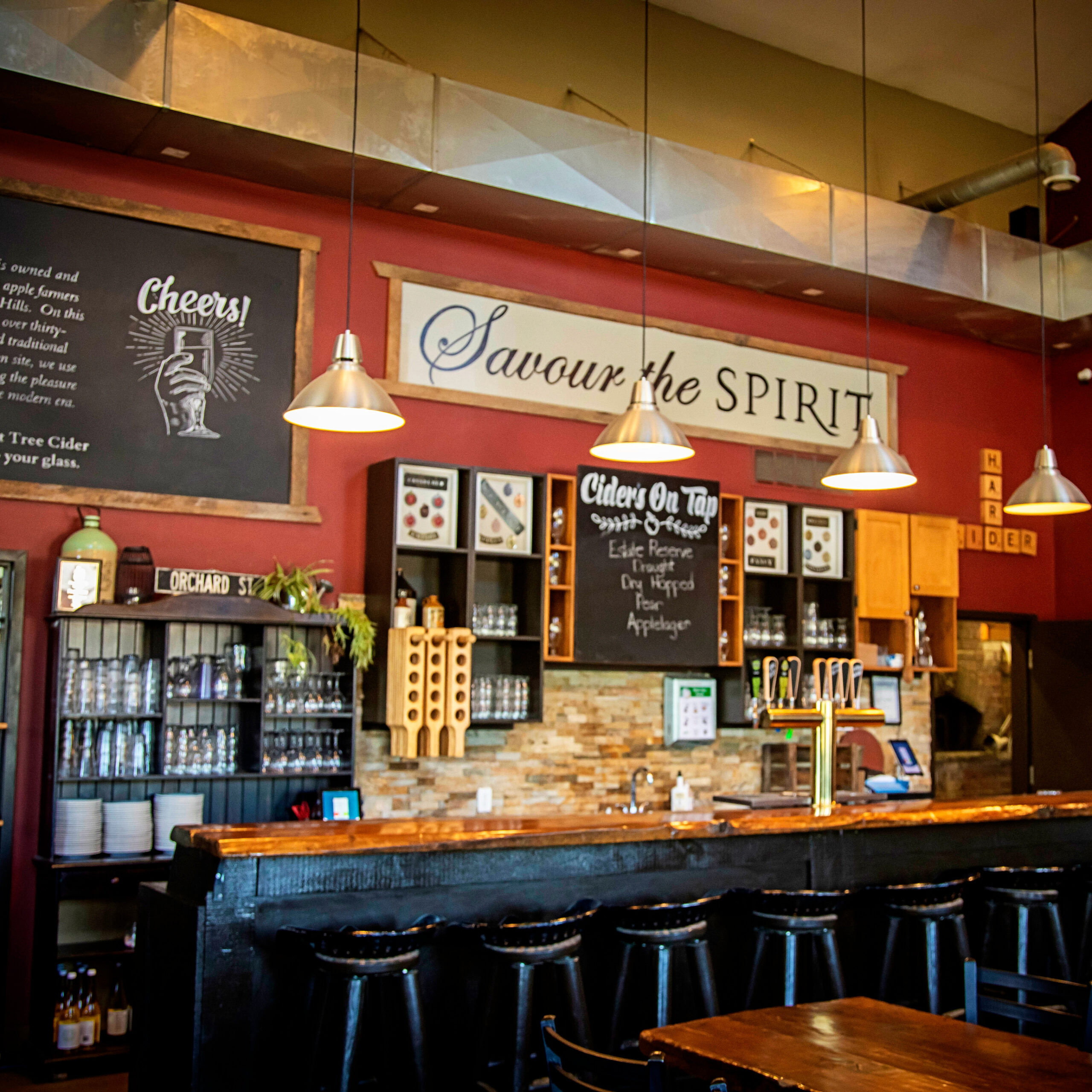 The bar in the Spirit Tree Bistro