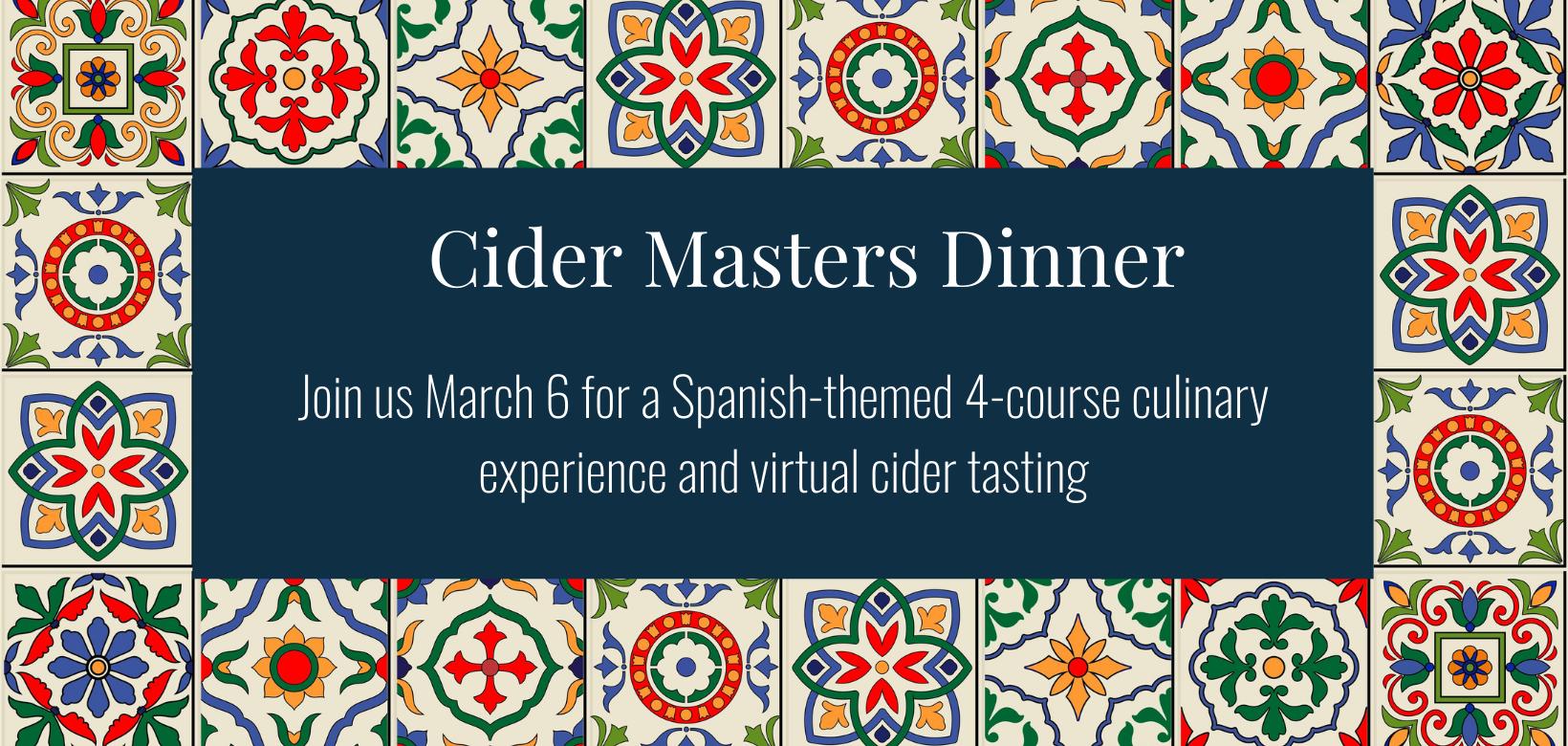 Cider Masters Dinner 2021 Banner 2