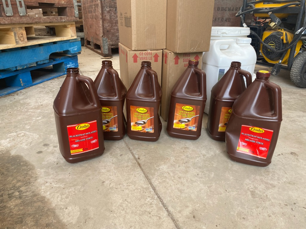 Molasses to help protect the buds from frost