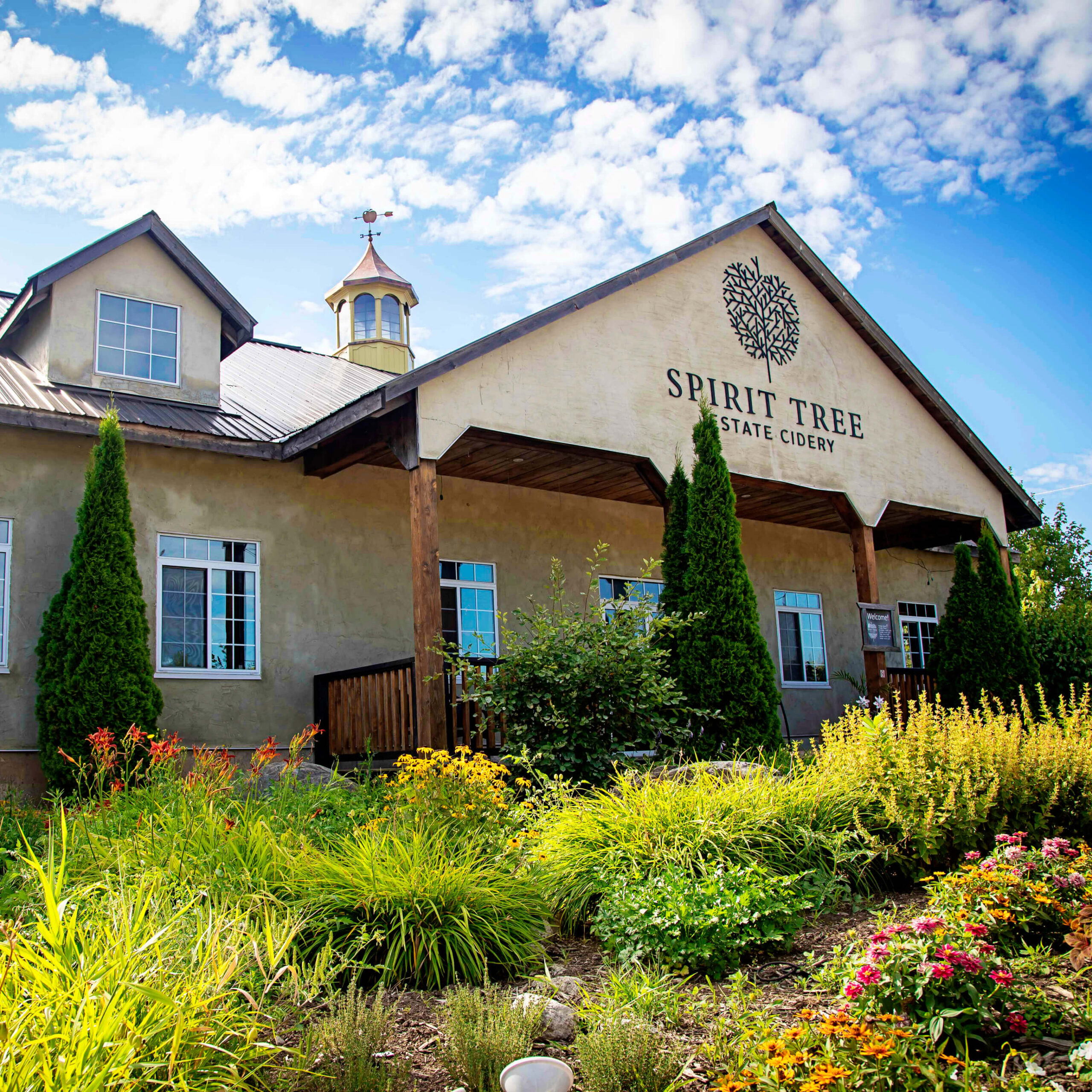 A view of Spirit Tree Estate Cidery