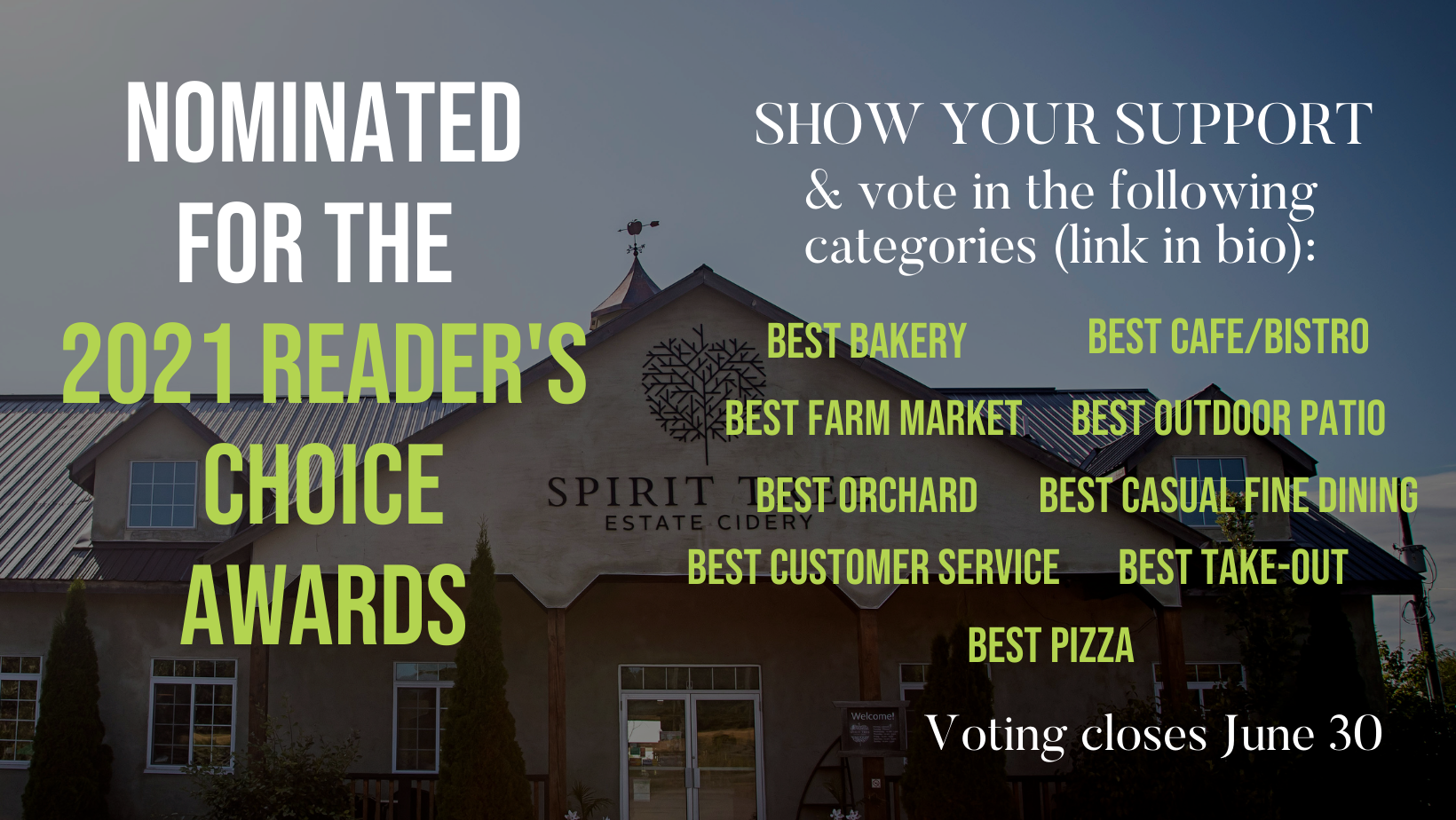 Nominated for the 2021 Readers Choice Awards