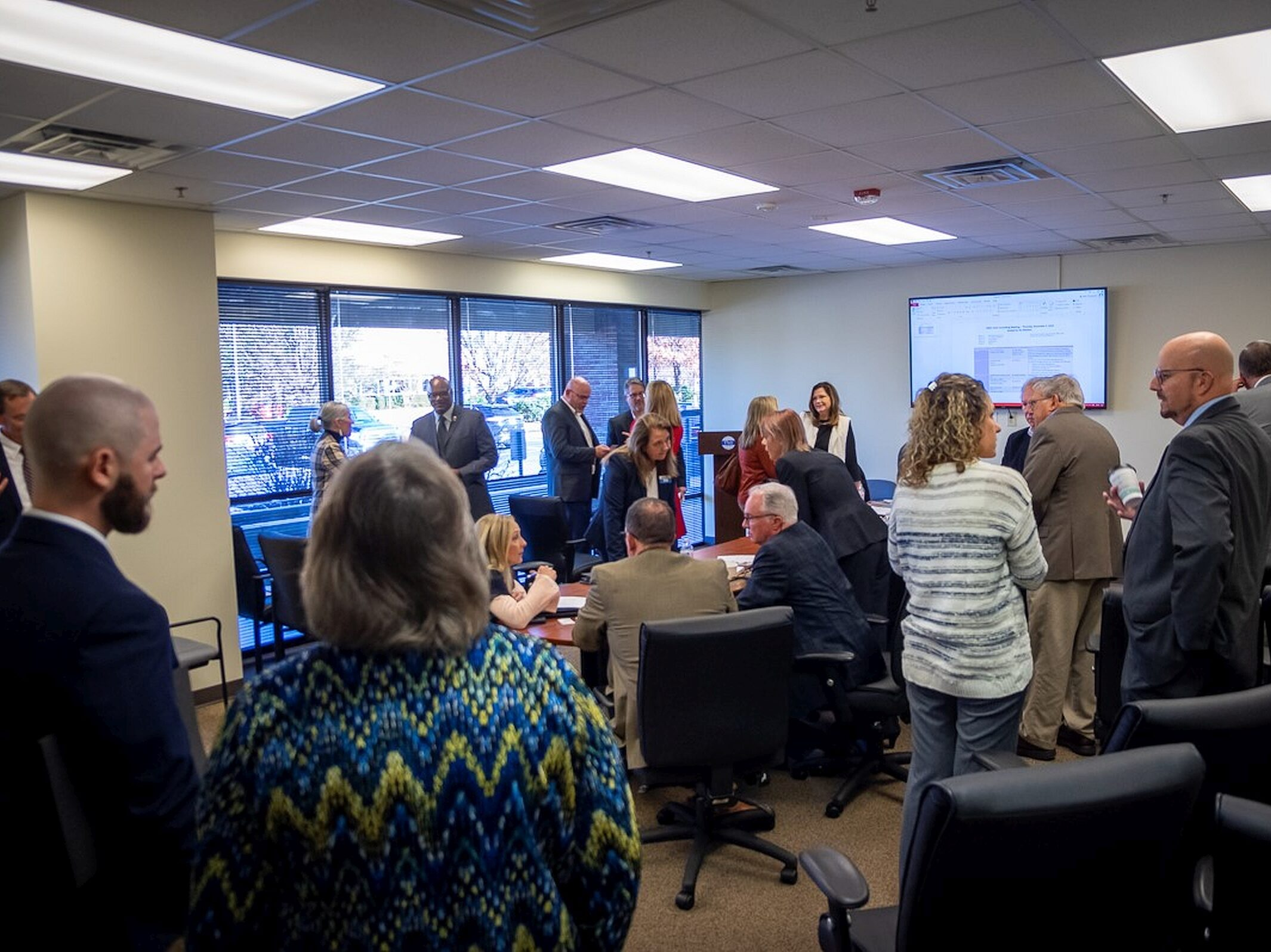 Marshall Joint Council Meeting participants in TMI conference room.