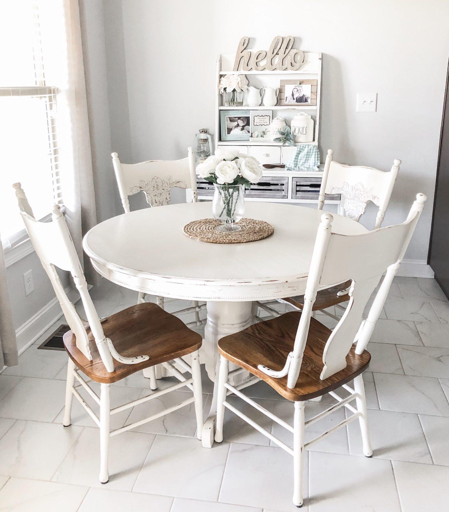 kateschwanke, kateschwanke blog, how to distress furniture, diy project, chalk paint, farmhouse table, farmhouse style