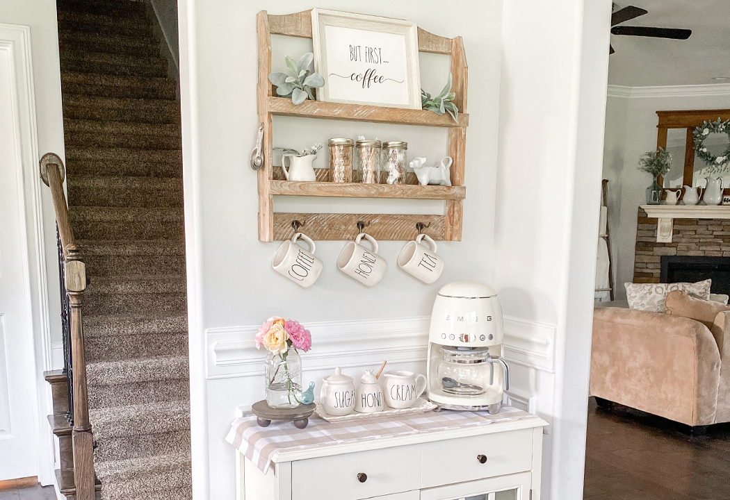 How To Create a Coffee Bar in a Small Space!
