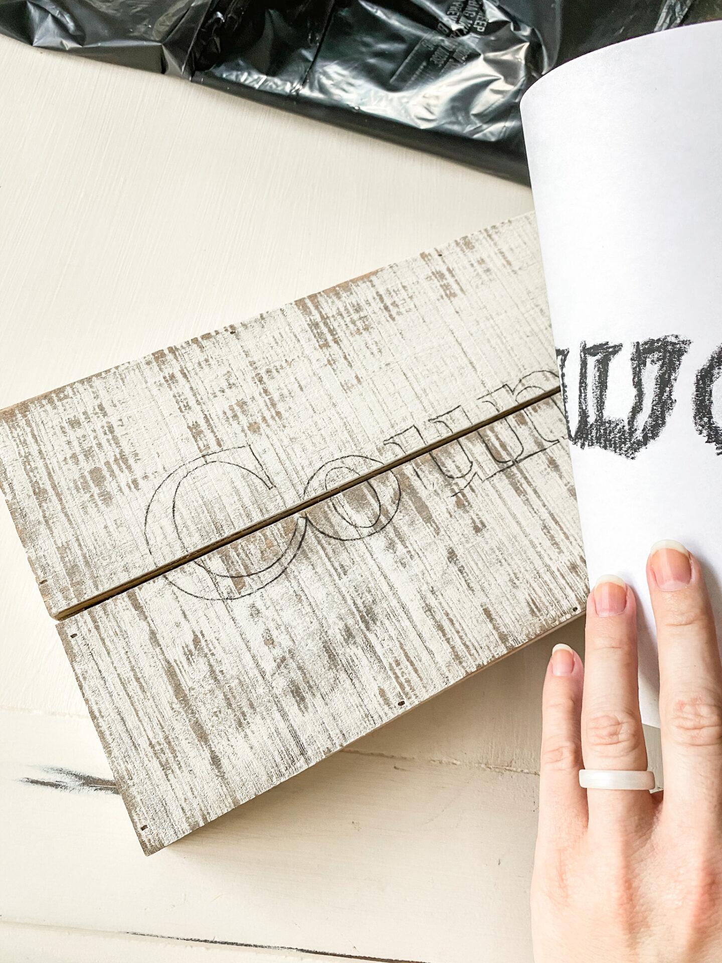 charcoal paper font transfer.