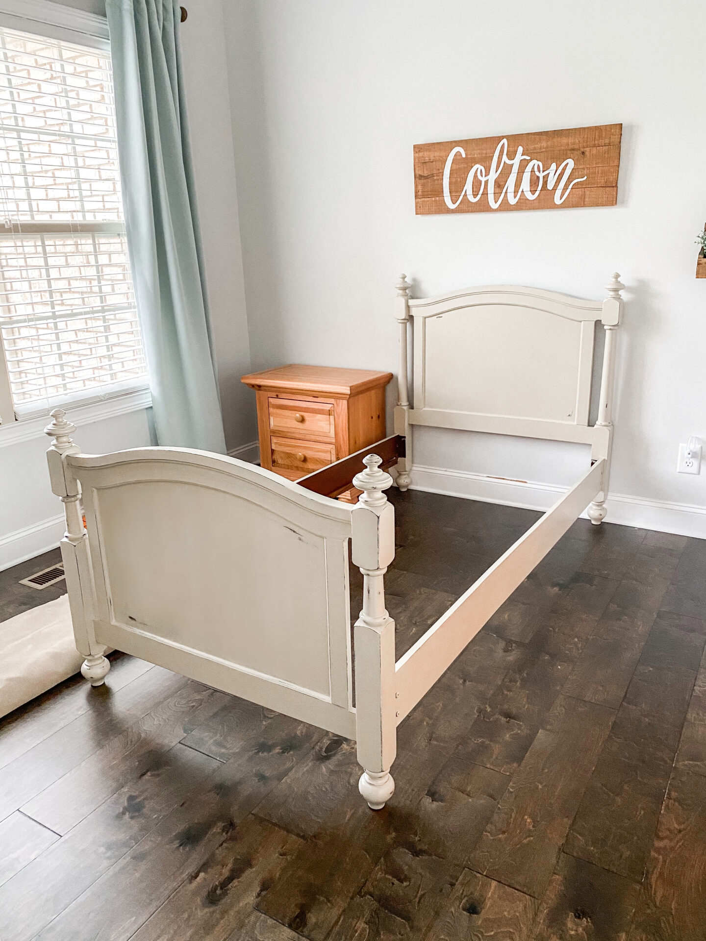 finished bed frame
