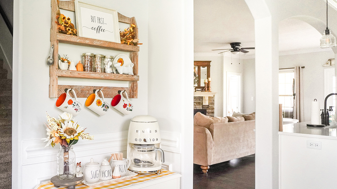 How To Decorate a Coffee Bar for Fall!