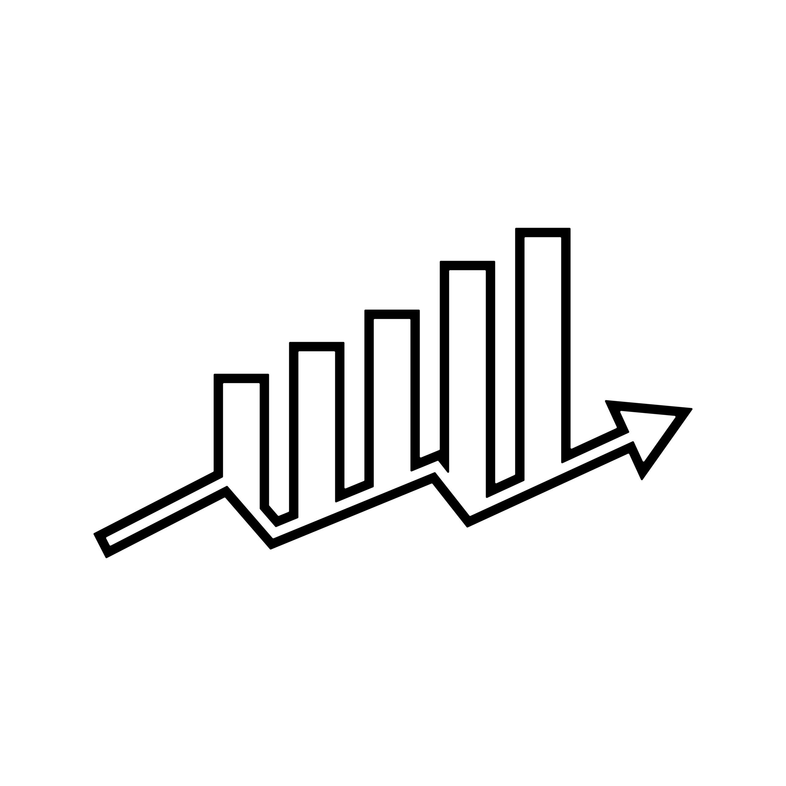 bigstock-Bar-Chart-And-Arrow-Going-Upwa-402418808