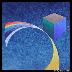 Abstract geometric fine art painting