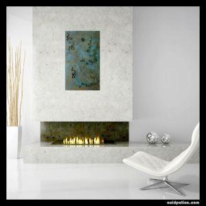Modern copper wall art
