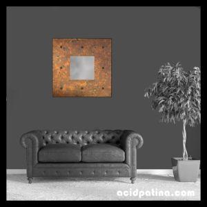 Large Square Copper Mirror