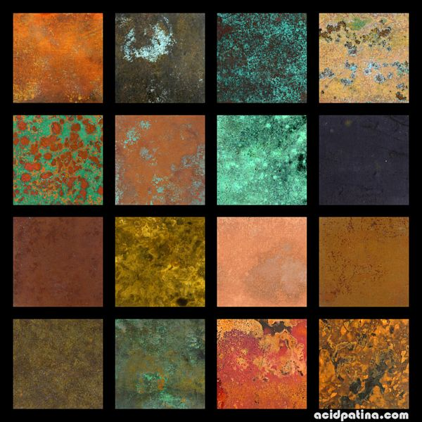 Copper patina colours