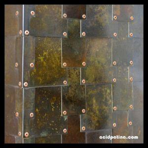 Solid copper rivets provide decorative feature