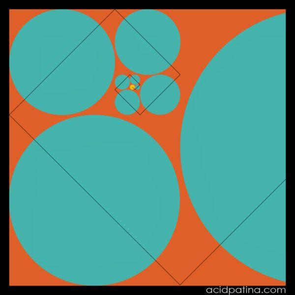 Fibonacci spiral in art