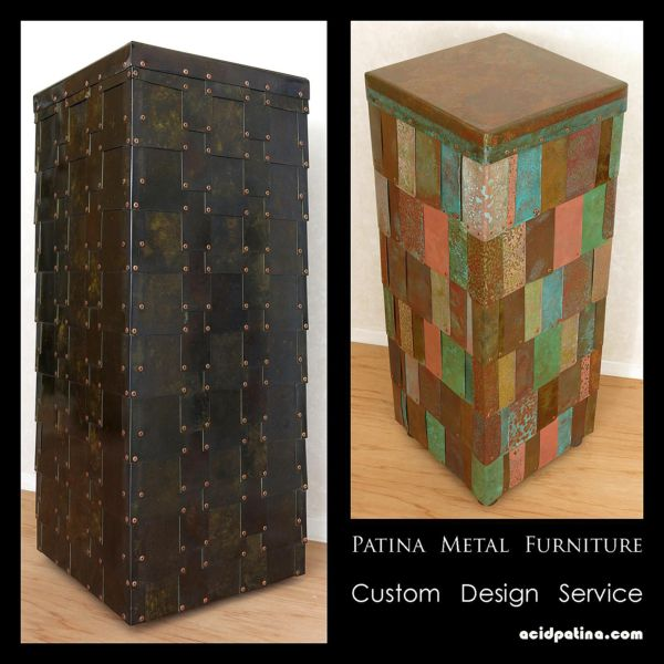 Custom designed metal furniture