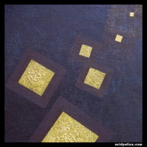 The spritual in modern abstract art. Golden squares drift from their Creator.