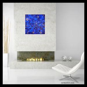 Blue square modern art