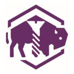 Evanston Wyrkshop Logo - stylized buffalo