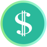 Icon for Scholarships - a dollar sign on a green background