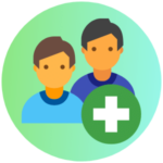 Icon for Additional Programs - a graphic of two boys with a plus sign within a small circle