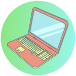 Icon for Professional Training - a graphic of a laptop computer