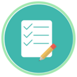 Additional testing icon featuring a stylized test and penciil