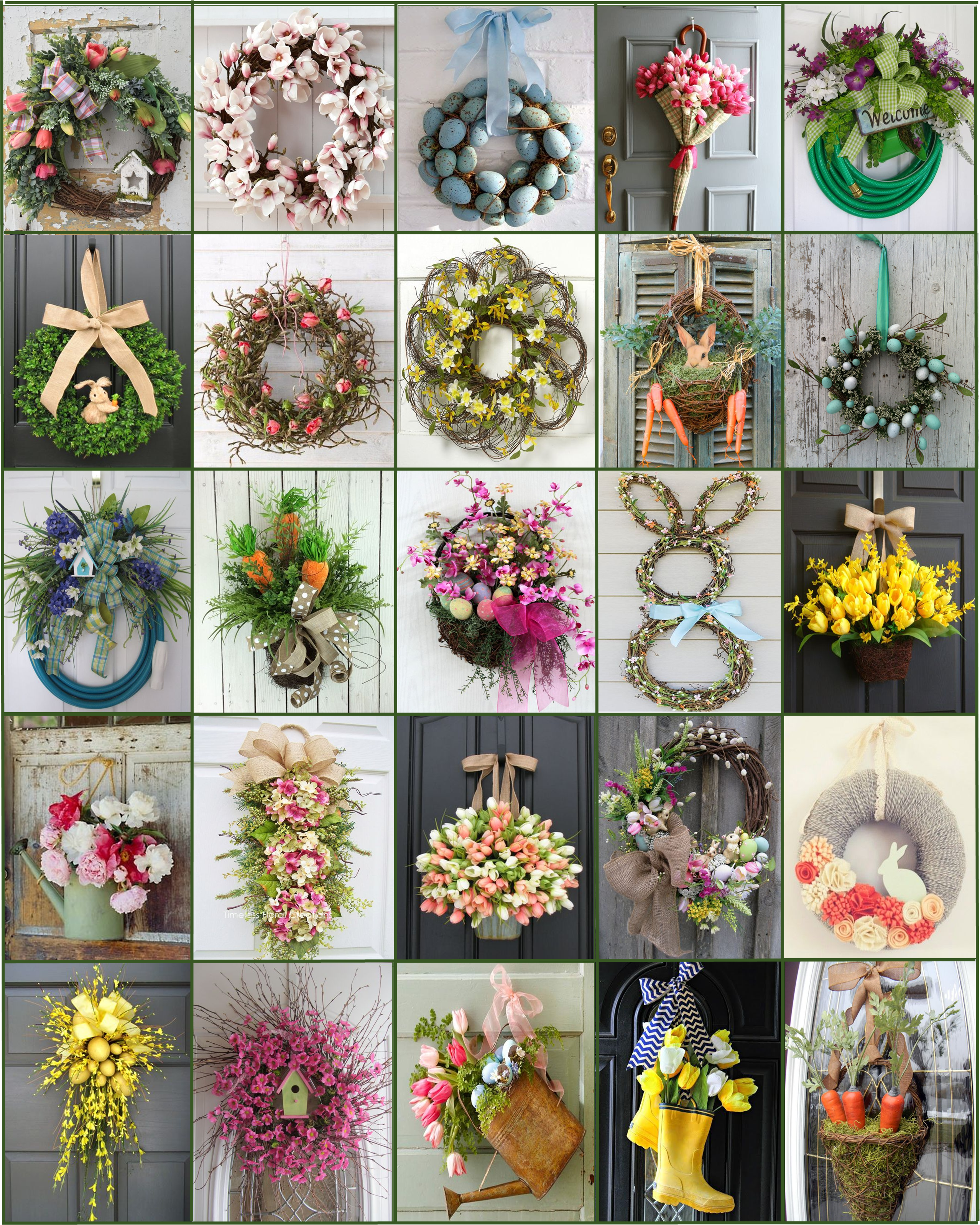 the best spring wreaths