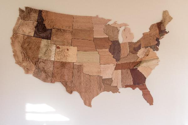 wood usa state map