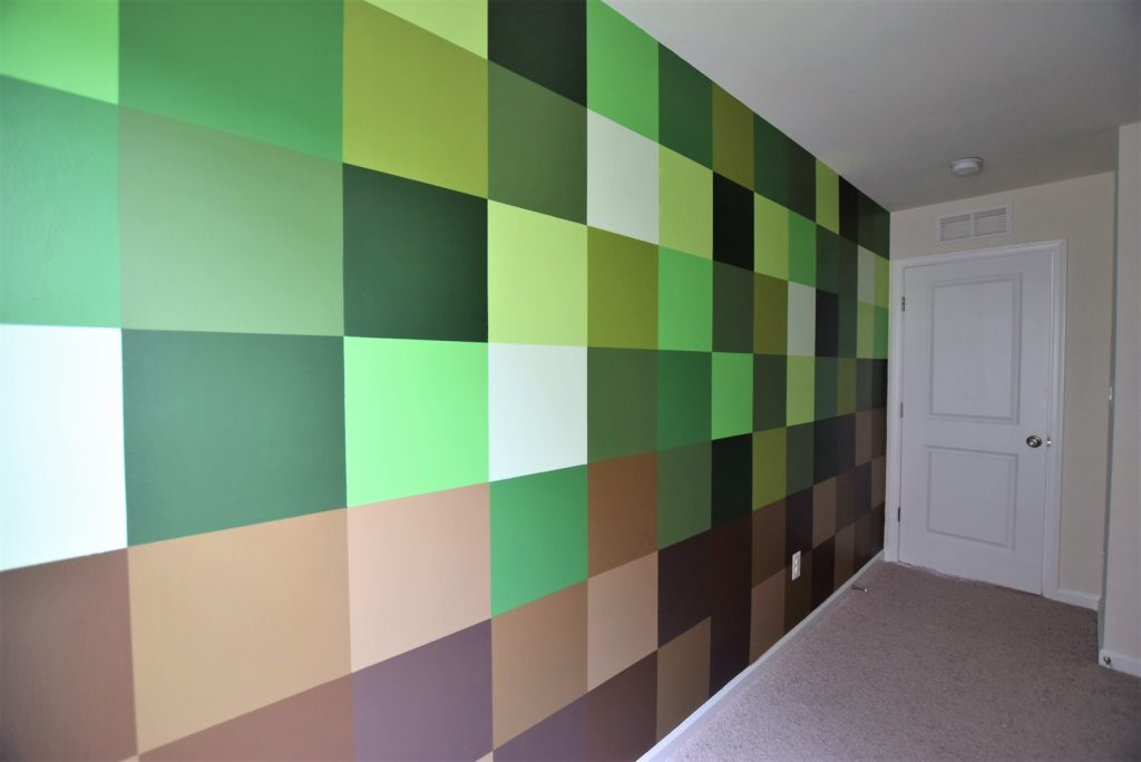 complete minecraft wall