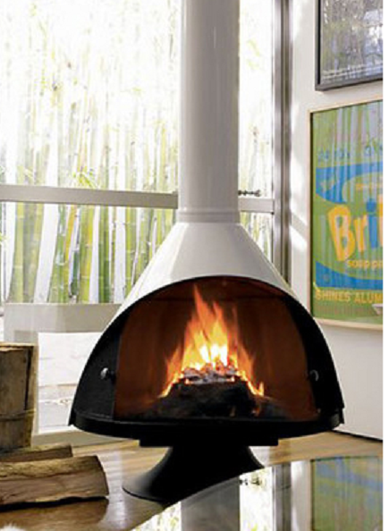 suspended fireplace
