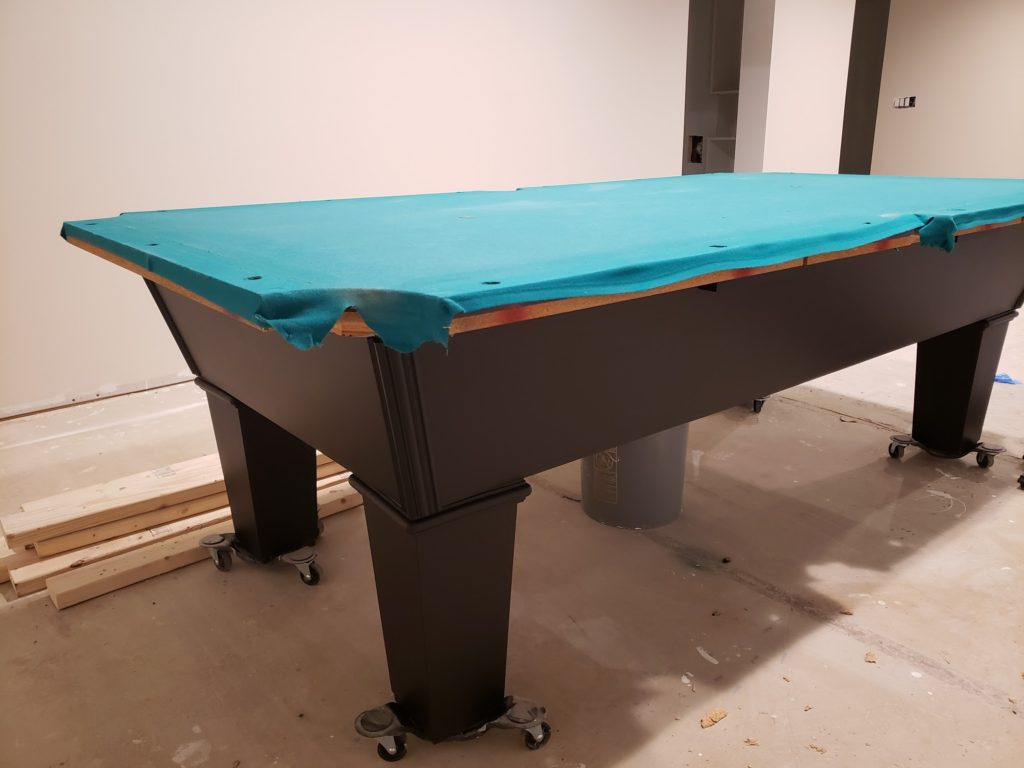 painted pool table