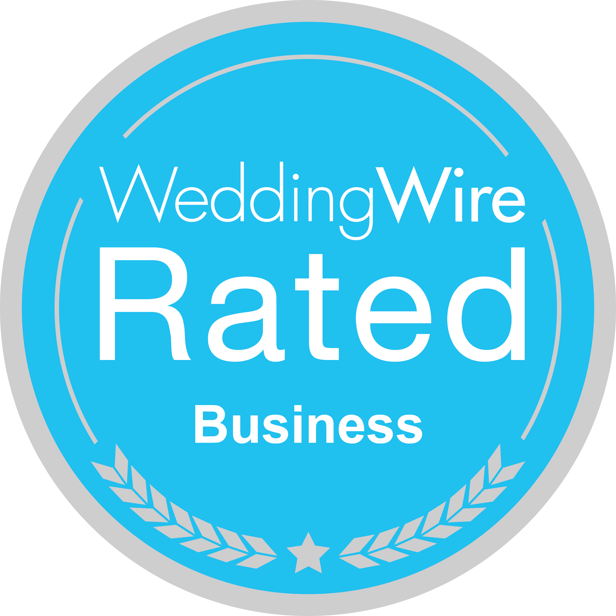 Wedding Wire Rated Business Seal