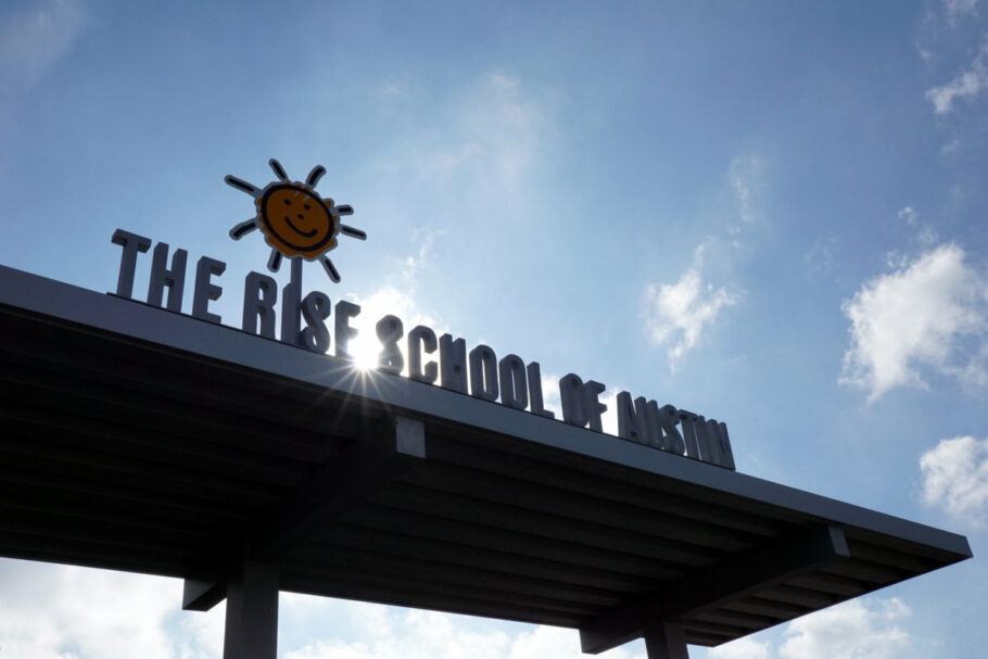 rise-school-sign-from-the-parking-lot-by-susan-egan